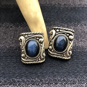 Vintage Moonstone Pierced Earrings
